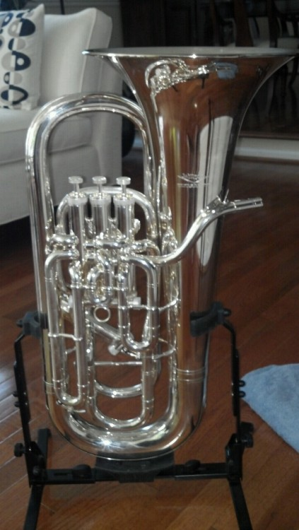 My gorgeous euphonium Vera, ready for college!