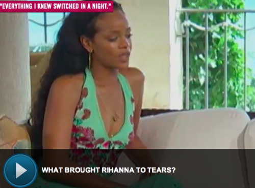 What made Rihanna cry?