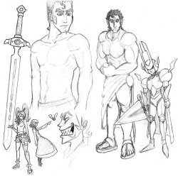 Discretional Valor character and weapon sketches. Did this one a while back, forgot to post it here! Some of these character designs are subject to change…