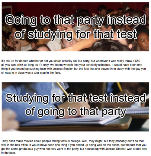 20 Things You'll Regret Doing in College We dare you to find 21