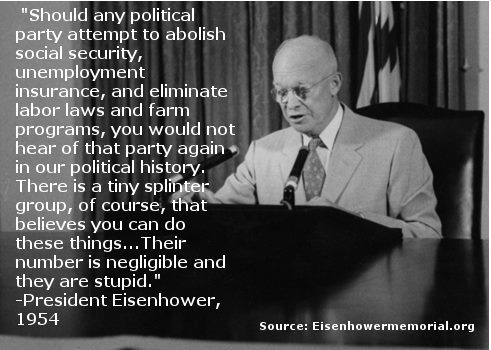 eloquent beautiful ike republican president agrees socialism democracy
