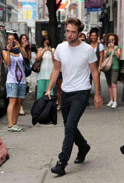 Robert Pattinson  out + about in NYC…