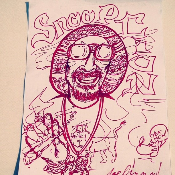 Cuzzin Joe Cool artwork (Taken with Instagram)