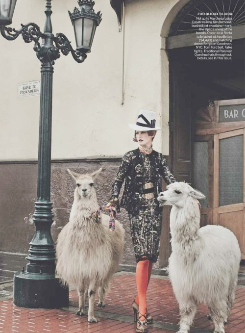 "Stella Tennant in in US Vogue September 2012 ""El Dorado"" by  Mario Testino"