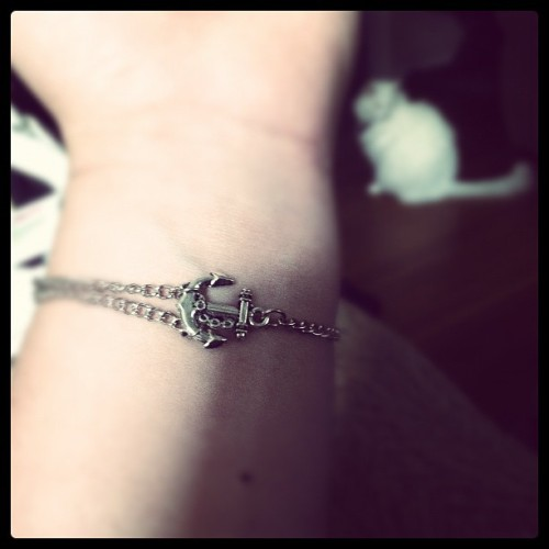 Finally got my anchor bracelet!! (Taken with Instagram)