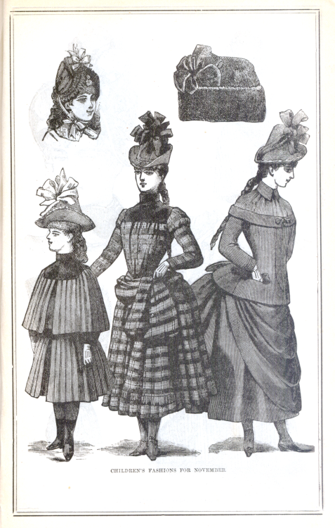 Children's fashions for November 1887 from Peterson's Magazine
