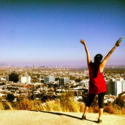 mermaidkissesx:  Dear #runyon you suck. Although your view is beautiful. #Hollywood #LosAngeles #hike #1sttime  (Taken with Instagram)