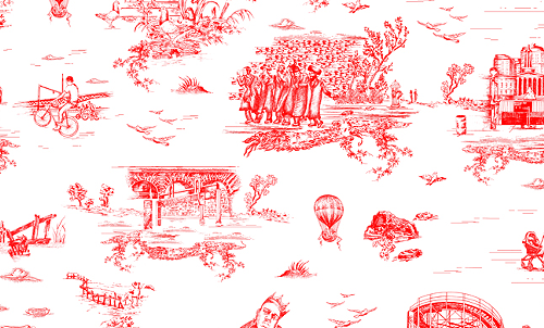 Beastie Boys' Mike D. designed BK-celebratin' wallpaper, I guess.