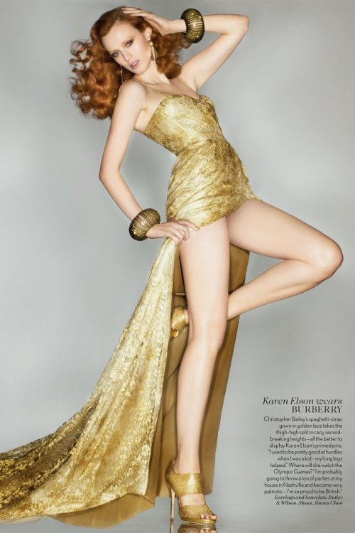 karen elson in burberry for the london 2012 olympics closing ceremony