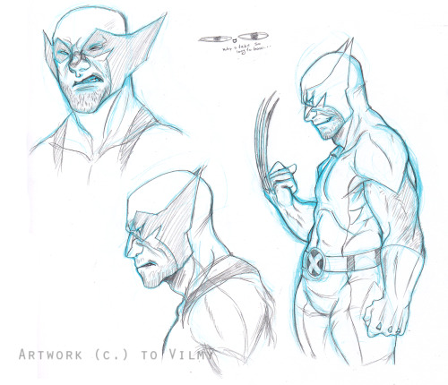 eskart:  So today I decided to give it a try and draw some wolverine :D IT TOOK ME ALL DAY TO MANAGE TO DRAW HIS FACIAL FEATURES =u=