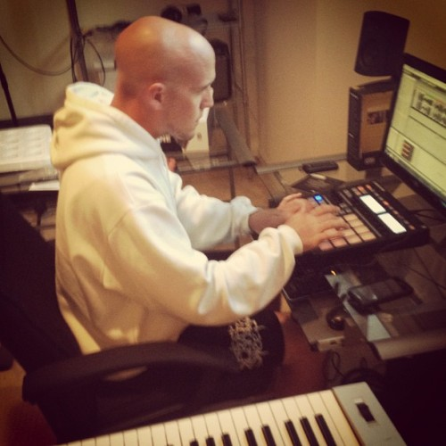 Pitbull in the studio. (Taken with Instagram)