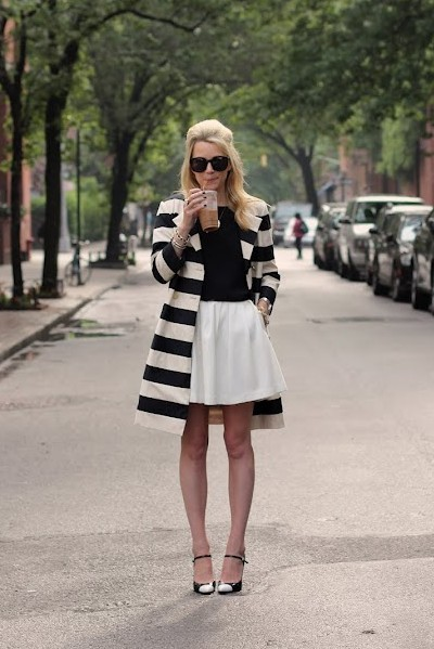 Fantastic stripped trench coat. #love