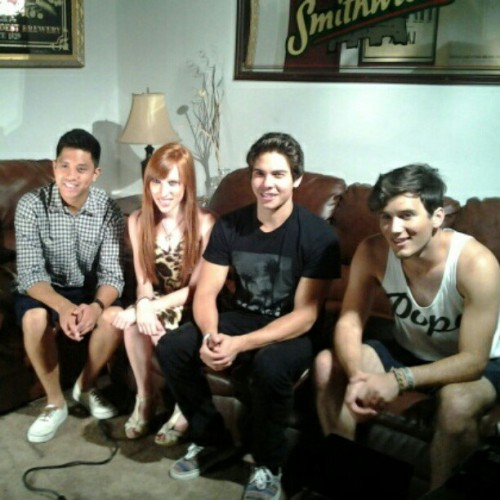 allstarweekendupdates:  Allstar Weekend doing an interview with Delia Rae before their show in Allentown, PA tonight!