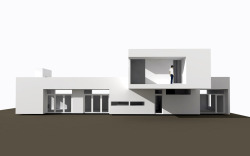 West Campbell Residence Bend, OR. In Progress These are early schematic renderings of a new home I'm working on on Bend's west side. The design maximizes roof area for stormwater collection by orienting the main and upper levels perpendicular to one another, which also works to create opportunities for a covered patio at the main level and a roof garden upstairs. The home is also located on the lot to maximize solar exposure and connections between indoors and out. And yes, we're going to do our damndest to pull off that cantilever.