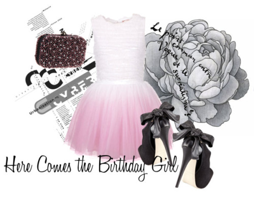 Birthday Girl by dancediva65 featuring clutch handbags