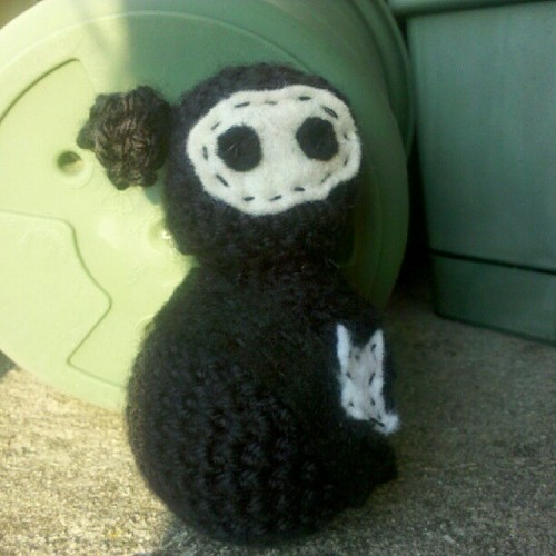 Crocheted a #ninja for the #dieantwoord show tonight! #imalittleoldlady (Taken with Instagram)