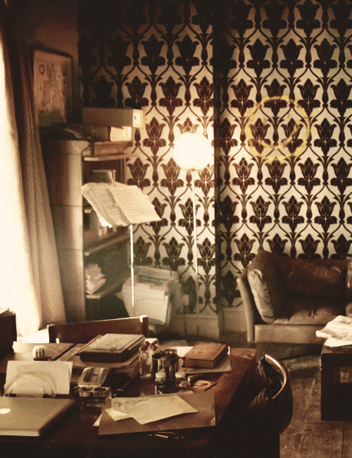 We met next day as he had arranged, and inspected the rooms at No. 221B, Baker Street, of which he had spoken at our meeting. They consisted of a couple of comfortable bed-rooms and a single large airy sitting-room, cheerfully furnished, and illuminated by two broad windows. — A Study in Scarlet
