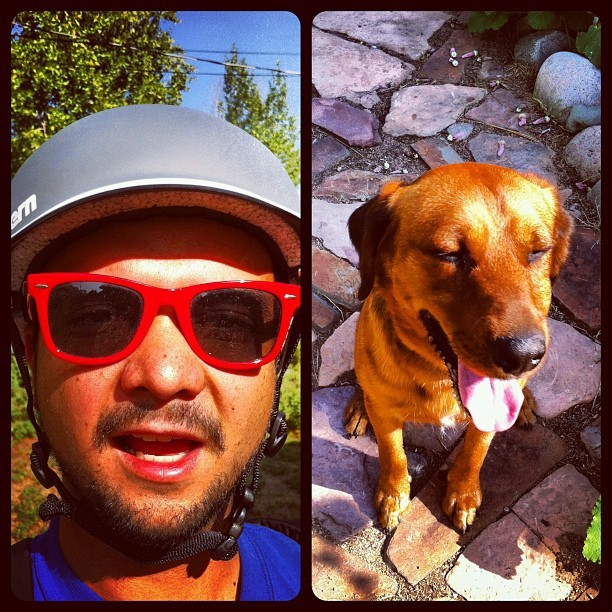 Post-bike ride face (Taken with Instagram)
