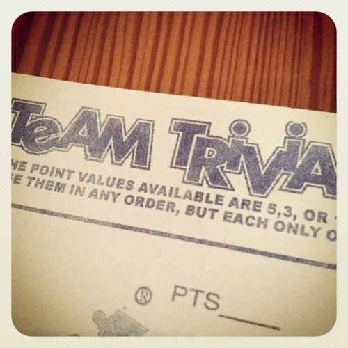 Go Team MeMaw!! @westeggcafe #trivianight (Taken with Instagram)