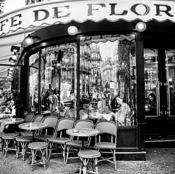 I love sitting outside at Cafe de Flore right on Saint-Germaine in Paris—one of my favorite spots to people-watch! xoRZ