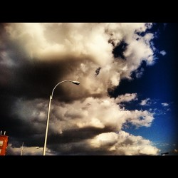 The sky is experiencing mixed emotions right now. #queens #sky #clouds #dark #light #pretty (Taken with Instagram)