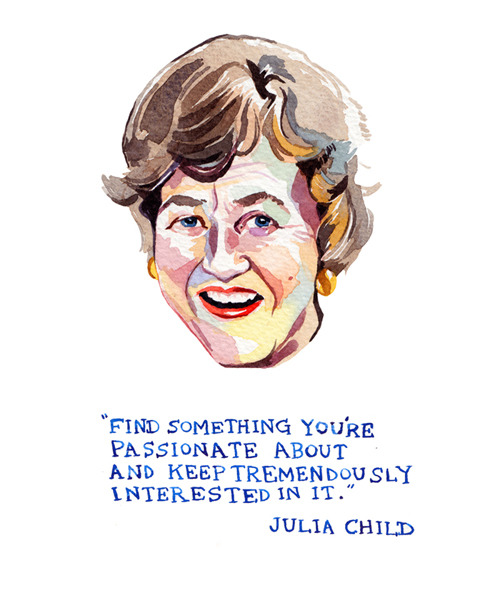 Julia Child would have turned 100 years old this week, and the world of Twitter was awash with feisty quotations and admirable tweets for the world renowned cook. For me, my heroines in life always seem to lean slightly on the eccentric side - and Julia is no exception to this rule. She was a courageous, hard-working and out-spoken woman, who shaped her life following her greatest passion in life, and making it her legacy. Tweet courtesy of @TheEverygirl_ (& Julia Child herself!)