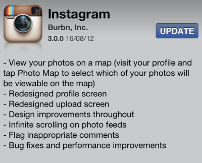 INSTAGRAM 3.0What do you guys think of all the changes? Not sure I'm a fan of the addition of a stalk-erm-map, and the interface is a little clunky but whatever. Instagram: hebb