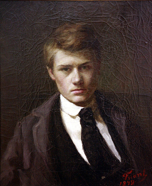 Emile Friant, Self-portait at 15