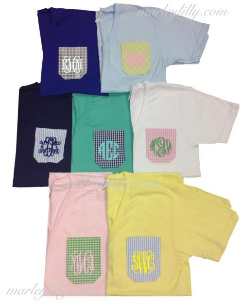 sororitysugar:  pocket + monogram = tee terrific  ;)