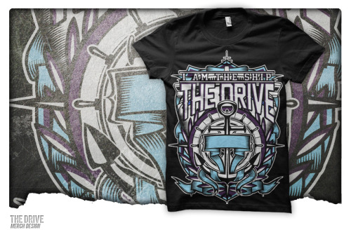 Pre-made Merch Design sold to a new band out of Las Vegas called The Drive. The design came out great and the colors make it look even better. If you all have a chance be sure to check this band out. Any questions/inquiries? Email upriseart@gmail.com