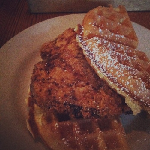 CHICKEN AND WAFFLES!!! CHICKEN AND WAFFLES!!! @westeggcafe #atlanta  (Taken with Instagram)