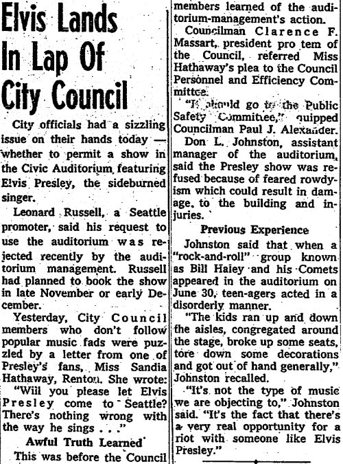 "Those ""rock-and-roll"" groups ruin it for everyone.  October 16th, 1956"