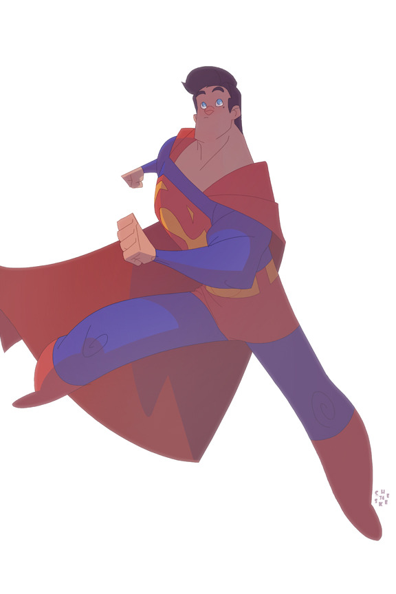 "elioli:  cheeks-74:  Clark Kent's… by `cheeks-74    Cool rendition of Superman by Sean ""Cheeks"" Galloway! Make sure you follow his work, if you haven't already!"