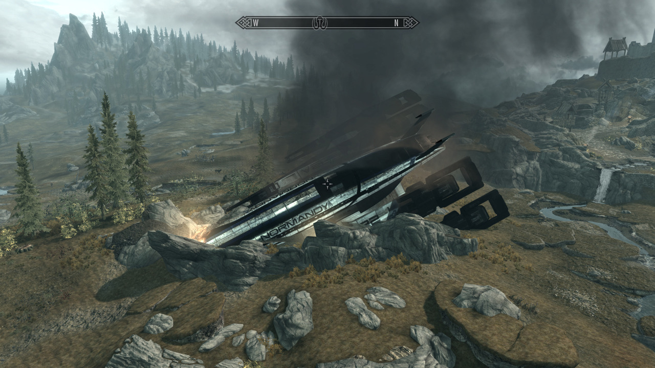 Well… any landing you can walk away from right?  Link to the Skyrim mod here