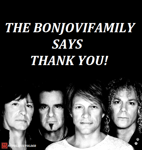 ON BEHALF OF THE BONJOVIFAMILY,     I WOULD LIKE TO TAKE A MOMENT AND THANK THE WONDERFUL BLOGGERS WHO TAKE THEIR TIME AND TALENTS AND USE THEM TO MAKE OUR FANDOM ALL THE BEAUTIFUL GIFS OF OUR BOYS!     ONCE UPON A TIME NOT SO LONG AGO THERE WAS ONLY A HANDFUL OF REGULARS. THE ORIGINALS. WHO SHARED THEIR WORK WITH US ALL, ALLOWING US TO REBLOG AND EVEN REUSE THEIR WORK TO PUNCTUATE OUR POSTS OR MESSAGES.  THE ORIGINAL GODDESSES OF THE BON JOVI GIFS     TWOSTORYTOWN                         SLASHBONJOVI     MUSER1901                                  CAPTAINKIDDY Now a new generation of GODDESSES has come into their own to stand beside THE ORIGINALS…    SHEDONTKNOWME                        ALOADEDSIXSTRING    IM-DAMNED                                    IS-THERE-A-DOCTOR-                                                         IN-THE-HOUSE  Of course there are other great Gif makers that randomly make some wonderful Bon Jovi Gifs but these are the members of THEBONJOVIFAMILY who blog frequently and will even take requests. Something I am forever grateful for… I'd really like to say one thing about usage of other Bloggers Gifs. I have found that all they really ask in return is that you give them credit and not repost their gifs as your own. It takes a moment to tag giving credit and it shows them the respect they deserve. Thank You once again Goddesses!        Always appreciated and admired!                  xoxo Gayle / Notoldjustolder