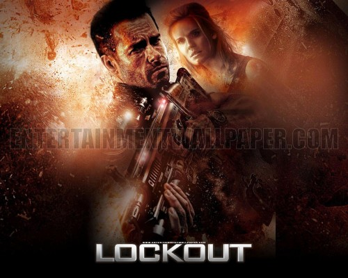"151) LOCKOUT (AKA SPACEJAIL) (2012) (New Movie) (VOD) This was almost to the point of ""so bad its good"" and yet it couldn't even do that right. I think tweeting about it was more fun than the actual movie itself."