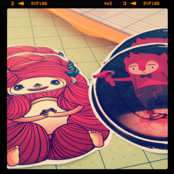 A WIP shot of the Little Lady and Doctor Barber stickers :)