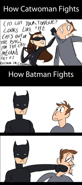 The difference between Catwoman and Batman.