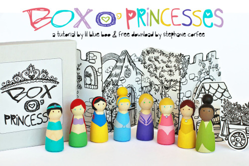 (via A Box o' Princesses (A Tutorial and Download) | Lil Blue Boo)