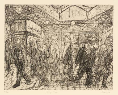 Going Home, Leon Kossoff, 1984.