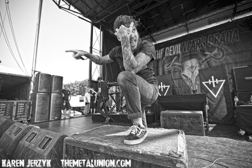 The Devil Wears Prada Click HERE for the full photo set Rockstar Mayhem Fest, Mansfield, MA Photos: Karen Jerzyk