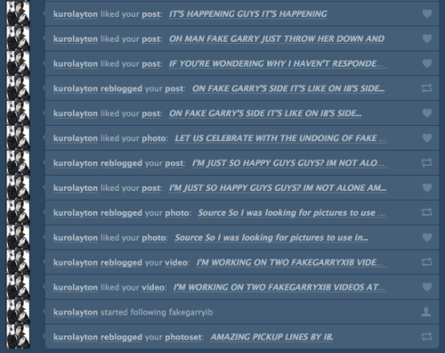 I COME BACK TO SEE THIS. I SEE YOU LIKE THIS BLOG KUROLAYTON. <3