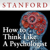 "(via How to Think Like a Psychologist - Download free content from Stanford on iTunes) Kelly Mcgonigal PhD: ""In this fun course, I invited my favorite psychology and neuroscience researchers at Stanford to talk about their work and what it means for everyday life and real-world problems. Each class starts with a 45-min lecturer by the guest speaker, followed by about 30 minutes of Q&A from myself and course participants. I had a great time grilling these amazing scientists about everything from politics to education, parenting, shopping, and the scientific process. You'll even hear a few personal stories they've never shared in public before!Featured speakers include: Chris Bryan, Philippe Goldin, James Gross, Bridgette Martin Hard, Brian Knutson, and Greg Walton. My special thanks to these psychologists for agreeing to let us share their talks with the world. (Several speakers declined, citing a ""bad hair day"" and other concerns. Oh well.)"" http://itunes.apple.com/us/itunes-u/how-to-think-like-psychologist/id513506131?mt=10"