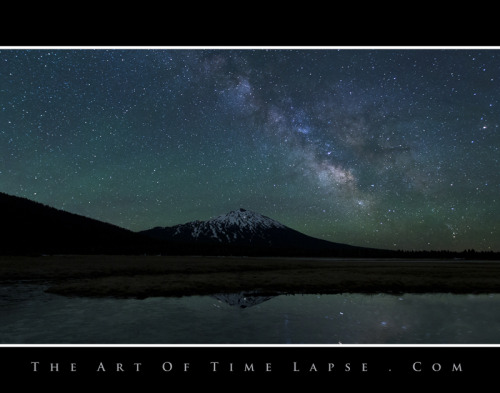 Mt Bachelor and Milky Way