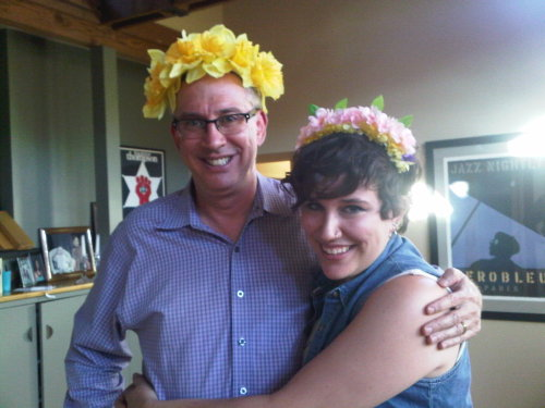 My Dad came down and saw my friend and I making flower crowns so obviously we let him in on the fun.