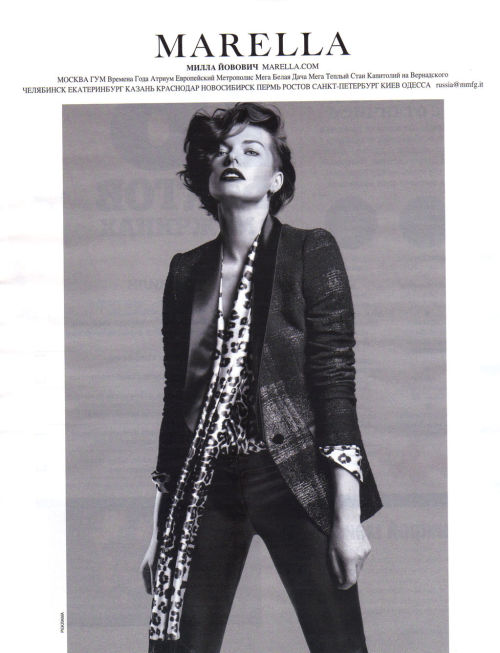 suicideblonde:  Milla Jovovich for Marella Fall/Winter 2012