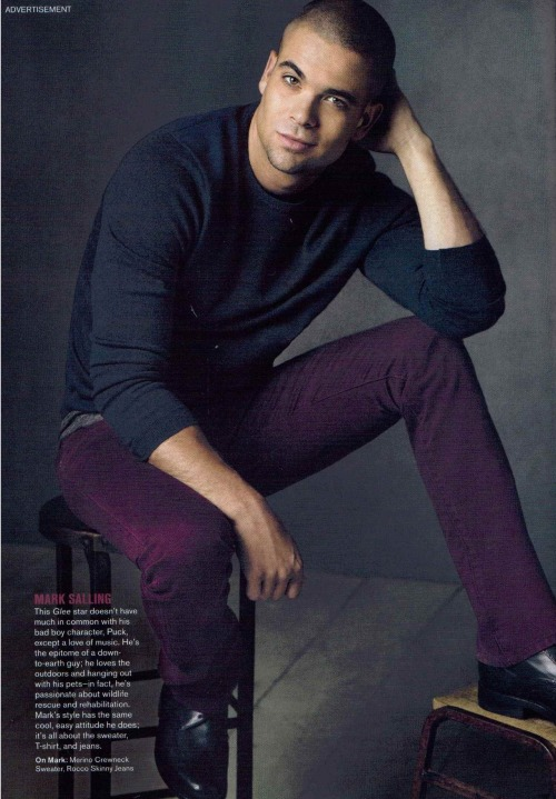 Mark Salling featured in September's issue of Vogue
