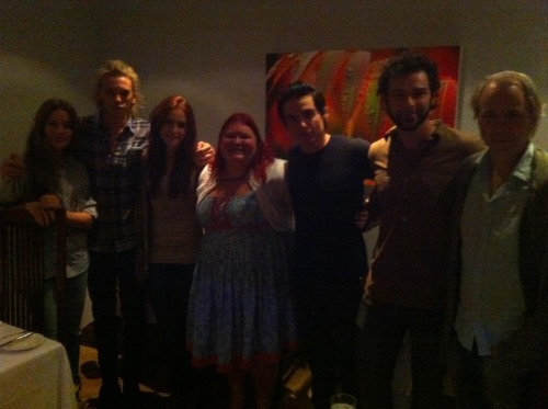 So, @cassieclare wanted me to share this with all of you #TMI fans! The cast says hello!   Aren't they gorgeous? You all excited, yet?