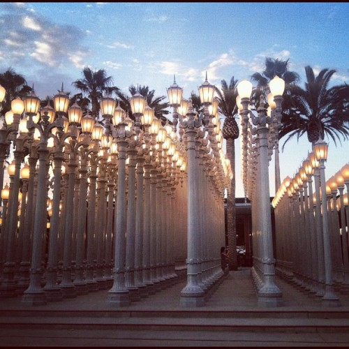No Strings Attached :) (Taken with Instagram at Chris Burden: Urban Light @ LACMA)