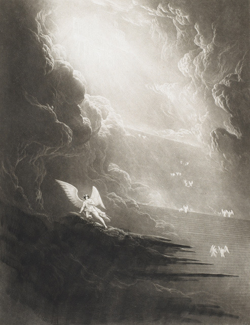 necroluste:  John Martin  - Paradise Lost, Satan Viewing the Ascent to Heaven.